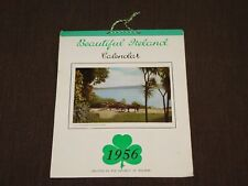 "VINTAGE 9"" X 7 1/4"" 1956 BEAUTIFUL IRELAND PAPER WALL CALENDAR"