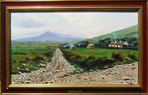 Listed Edmund Sullivan Large Older Impressionist Landscape Oil Painting NO RES.