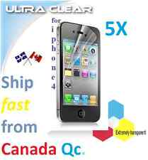 5X HD clear screen protector Apple iphone 4 4s iPHONE4 film guard Transparent