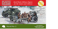 British 25Pdr & CMP Quad Tractor  & Limber x 2 each  - PLASTIC SOLDIER CO
