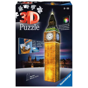 Ravensburger Big Ben 3D Jigsaw Puzzle Night Edition with LED Lighting -216 Piece