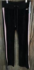 Calvin Klein Performance Womens Velour Colorblock Track Pants blk/pink XS 77A10