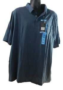 Men's Gerry Casual Fit Comfort Stretch Brushed Knit Short Sleeve Polo Shirt