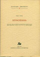 PALMA Marco. Sessoriana. Materiali per la storia dei manoscritti