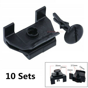 10 Sets Front Fender Bumper Cover Clip & Pin Kits For Toyota Camry Corolla Lexus