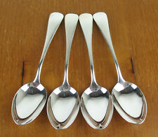 "4 x Teaspoons 5 5/8"" Birks Regency Plate Old English silverplate tea spoons"
