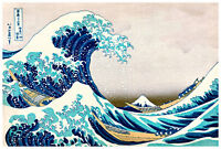 The Great Wave by Katsushika Hokusai 118.8cm x 81.6cm High Quality Canvas Print