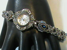 Jaclyn Smith Silver Tone Marquise Women's Watch Quartz Japan Movement