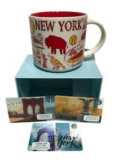 Starbucks New York Coffee Mug Cup Been There Series  Adirondacks Erie 3 Bonus