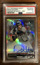 DREW WATERS 2017 Bowman Chrome Refractor Auto 259/499 PSA 10 Braves