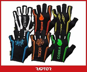 """Kids/Mini/Junior """"2nd Skin"""" 3/4 Fingered Rugby Silicon Grip Gloves/Mitts/Mits"""