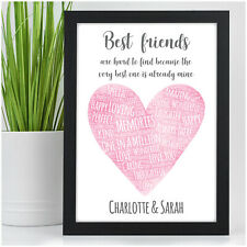 PERSONALISED Gifts for Best Friend Christmas Birthday Gifts for Friends Her BFF
