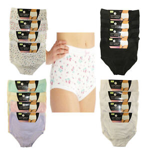 Ladies Briefs Maxi 100% Cotton Women's Underwear Full Comfort Fit Sizes 10-24