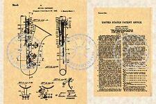 SELMER SAXOPHONE Patent Henri Selmer Sax #097
