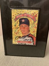 JEFF BAGWELL 1992 DONRUSS GALLERY OF STARS ON CARD AUTO  WITH COA