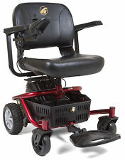 Golden LiteRider Envy Lightweight Mobility Electric Transport Power Chair Red