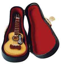 1/12TH SCALE DOLLS HOUSE SPANISH GUITAR WITH CASE