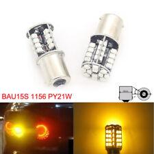 2x 44 SMD LED CANBUS ERROR FREE 581 BAU15S 1156 21W BULBS INDICATOR ORANGE AMBER