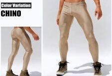 Large Metallic Light Gold Compression Running Tights Training Activewear Gay UK