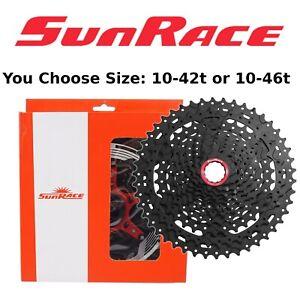 SunRace CS MX9X 11 Speed XD Cassette Black Fits SRAM 10-42 or 10-46 Wide Range