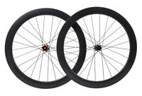 55mm Clincher Carbon Wheelset 700C Road Bike disc brake Rim Matt Tubeless Cycle