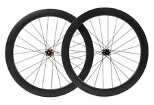 55mm Clincher Carbon Wheelset 700C Road Bike disc brake Rim Matt Tubeless Cycle