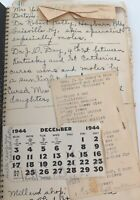 .1940s AMERICANA INTERESTING COMBINATION DIARY, LEDGER, RECIPE BOOK, CLIPPINGS.