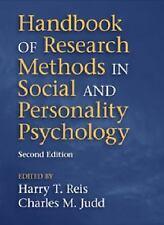 HANDBOOK OF RESEARCH METHODS IN  - CHARLES M. JUDD HARRY T. REIS (PAPERBACK) NEW