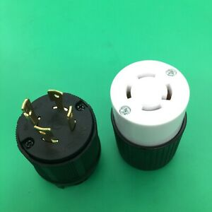 L14-30 Plug and Connector Set for Generator Power Cables Generic