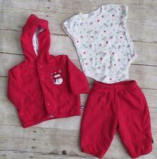 Cherokee Baby 6 Months 3-Piece Set Red Jacket, Pants & Bodysuit  Snowman So Cool