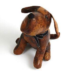 Türstopper Stoff Hund braun Leder 20 cm 1 Kg
