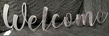 WELCOME Custom CNC plasma cut metal sign wall art