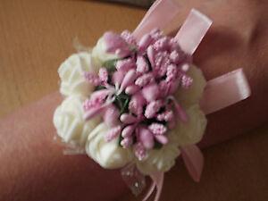 Brautjungfer Blumenarmband Hochzeit Armband Blumen Rose Blätter Blumenmädchen