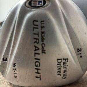 US Kids Golf USKG WT-15 21° Fairway Driver~Ultralight UL 57 Graphite Shaft~RH 3