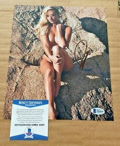 PAIGE SPIRANAC SIGNED SEXY LPGA 8X10 PHOTO BECKETT CERTIFIED #5