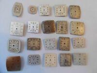 20 Vintage Rectangular Watch Dials Elgin Bifora BULOVA 4 Art Lot# 15