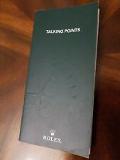Rolex Talking Points Booklet English- 2004