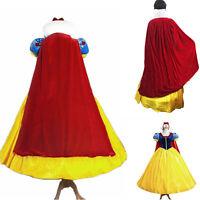 Lady Deluxe Snow White Fancy Dress Costume Fairy Tale Princess Queen Fancy Dress