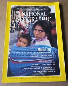 National Geographic Magazine - August 1984 - Mexico City - Colorado
