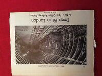 m12y ephemera 1950s article the post office railway system under london