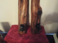 Set Of 2 Rustic  Wood Candle Holder Wall Sconce Farmhouse Country Rustic