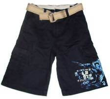 Boys Navy Cotton Belted Cargo Shorts  Size 10