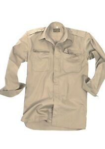"US Bdu Field Shirt R/S "" Light Tropical Khaki/Coyote M Army Navy Paratrooper"