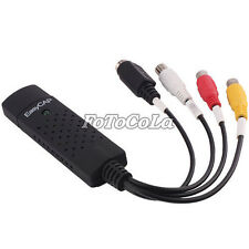 Easy CAP USB Record VCR VHS Video to PC AV S-video DVD USB2.0 capture adapter