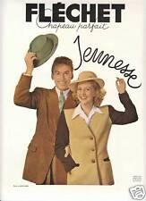 Publicité ancienne chapeau Fléchet 1948 issue de magazine no 2 J. Brochard