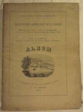 RABUT Habitations lacustres de la Savoie ALBUM PERRIN 1864 16 LITHOGRAPHIES PLAN