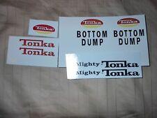 MIGHTY TONKA BOTTOM DUMP 74-75 DECAL SET
