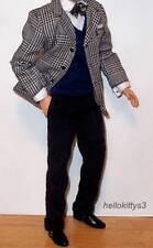 Barbie .. Ken Fashion .. 1940 Style Suit .. Jacket Pants Bow Tie Vest Shoes