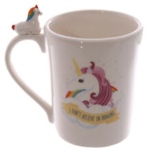 Cute Quirky Rainbow Unicorn Mug I Dont Believe In Humans Coffee Horse Cup