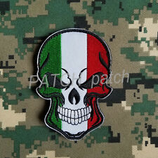 ITALIAN FALG ITALY ROME HOPE PUNISHER SKULL FLAG ARMY TACTICAL MORALE HOOK PATCH